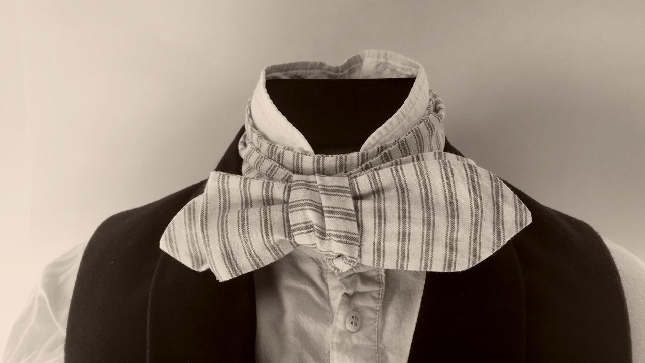 Photo of a 19th century style cravat