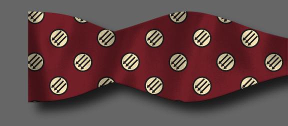Red Anti-fascist bow tie mockup